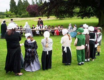 Reenactment at Ingatestone Hall